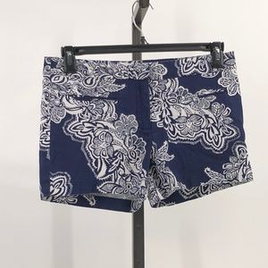 Dalia Collection navy floral print shorts size 6